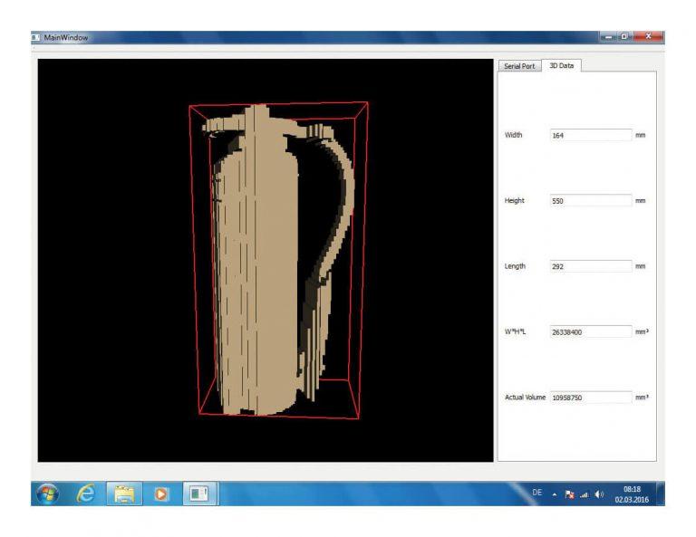 Zippcube fotografia dane z wymiarowania